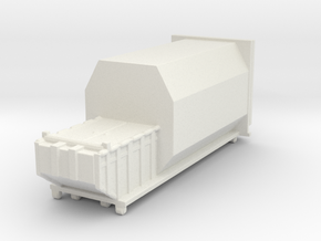 Waste Compactor 1/144 in White Natural Versatile Plastic