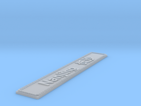 Nameplate Nanjing 南京 in Smoothest Fine Detail Plastic