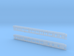 Pullman 10-1-1 Sleeper (Plan 3973C) - Car Sides in Smooth Fine Detail Plastic
