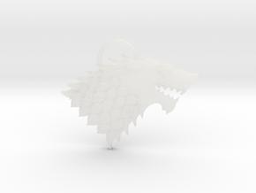 Stark Pendant in Smooth Fine Detail Plastic
