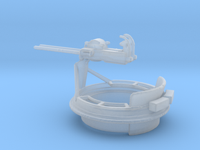 1/48 Scale Mk 17 50 cal Gun Mount in Smooth Fine Detail Plastic