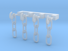 OO Scale Chain Link Couplings in Smoothest Fine Detail Plastic