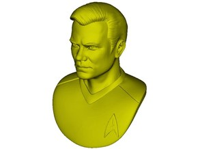 1/9 scale Star Trek Captain Kirk bust in Smooth Fine Detail Plastic