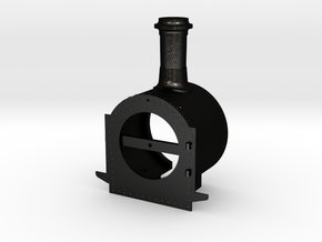 Smokebox with chimney for Roundhouse Russell in Matte Black Steel