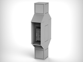 Telephone Booth 01.1:24 Scale in White Natural Versatile Plastic