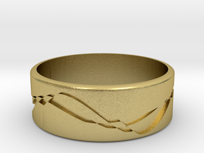 ring.Engrave in Natural Brass