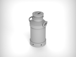 Milk churn 40 liters. 1:24 Scale  in White Natural Versatile Plastic