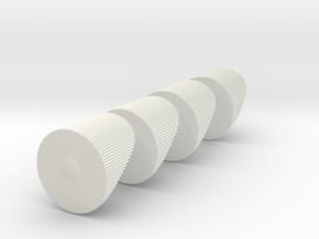 650 warp engine caps in White Natural Versatile Plastic