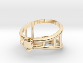 Bottle Opener Ring in 14K Yellow Gold