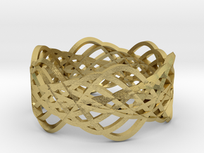 ring.Lace in Natural Brass