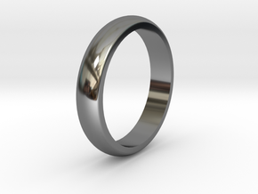 Basic ring (18mm IR) in Fine Detail Polished Silver