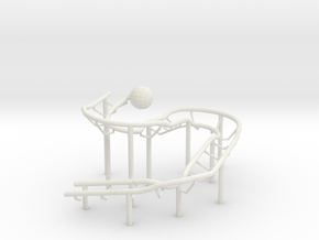 Rolling Ball Sculpture in White Strong & Flexible
