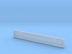 DODX Flatcar - Vehicle Deck (Separate Part) in Smooth Fine Detail Plastic