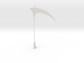 1:144 scale model scythe in White Natural Versatile Plastic