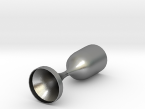 Converging Diverging Nozzle in Natural Silver