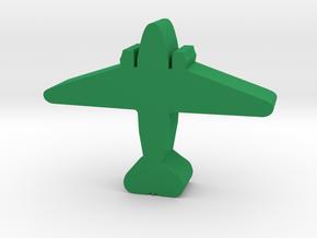 WW2 Transport plane meeple in Green Processed Versatile Plastic
