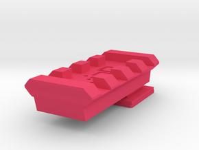 Flash Hot Shoe Picatinny Rail (4 slots) in Pink Processed Versatile Plastic