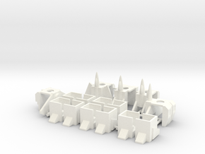Armor for Aerialbot Kreons (Set 1 of 2) in White Processed Versatile Plastic