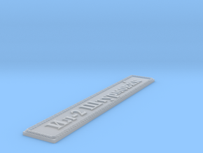 Nameplate Ил-2 Штурмови́к (Il-2 Shturmovik) in Smoothest Fine Detail Plastic
