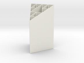 Sierpinski Gasket Penholder in White Natural Versatile Plastic