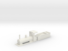 O9 estate loco and bogie tender  in White Strong & Flexible
