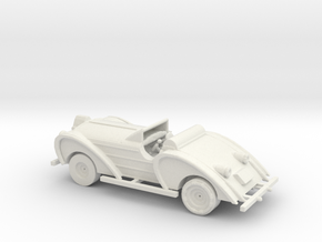HO Scale Antique Car in White Natural Versatile Plastic