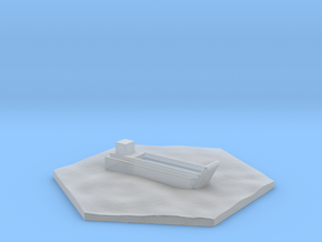 Landing craft WW2 warship hex counter in Smooth Fine Detail Plastic