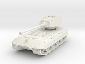 E-100 (Rear Turret) (skirts) 1/100 in White Natural Versatile Plastic