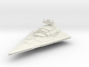 10000 Imperial Star Destroyer Star Wars in White Natural Versatile Plastic