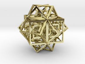 Singularity Pixel in 18k Gold Plated Brass
