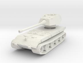 E-100 (Rear Turret) 1/100 in White Natural Versatile Plastic