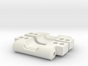 NIX6360 stock RC10 rear arm mounts (3-3) in White Natural Versatile Plastic