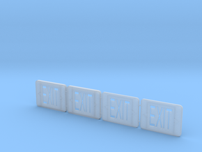 1:12 EXIT sign 4pc in Smooth Fine Detail Plastic