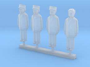 Shiningtime Station Conductors Group in Smooth Fine Detail Plastic