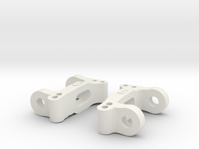 MO30-2 - Tamiya TL-01 C-arm 6 degrees of caster in White Natural Versatile Plastic