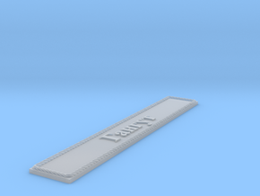 Nameplate Гангут (Gangut in Cyrillic) in Smoothest Fine Detail Plastic