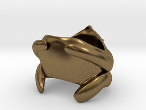 Bear Ring in Natural Bronze