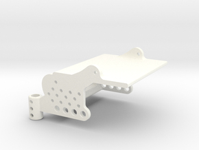 Goblin Front Body/Electronics mount in White Processed Versatile Plastic