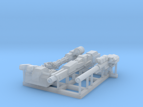 Back weapon system sac in Smooth Fine Detail Plastic