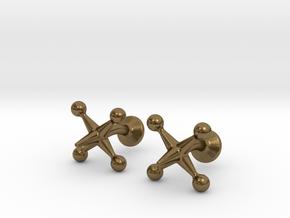 Jacks Cufflinks in Natural Bronze