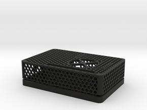 Raspberry Pi 4 B Case in Black Natural Versatile Plastic