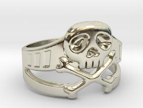 Space Captain Harlock Ring Size 13 in 14k White Gold