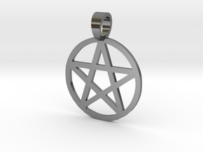 Pentacle Sigil Pendant in Polished Silver