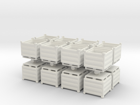 Palletbox Container (x16) 1/87 in White Natural Versatile Plastic