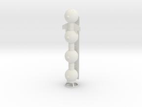 Cetacean 150 mm in White Natural Versatile Plastic