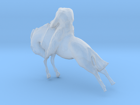 HO Scale Bucking Bronc in Smooth Fine Detail Plastic