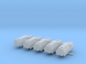 Armored Train x5 in Smooth Fine Detail Plastic