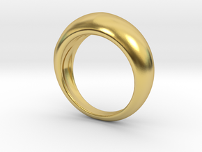 NOURISH Ring in Polished Brass: 7 / 54