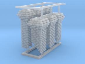 HO Fancy Brick Chimneys in Smooth Fine Detail Plastic
