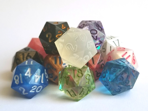 Mold Master D20 - Sharp Edged, Odin in Smoothest Fine Detail Plastic